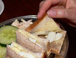 Wie Ei Sandwiches machen