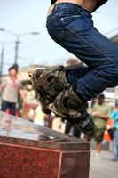 Wie Grind mit Inline-Skates