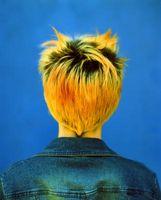 Zum Aufhellen der Haare mit gepressten Pulver, Wurzeln zu verbergen