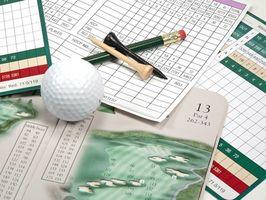 Erklärung einer Golf-Scorecard