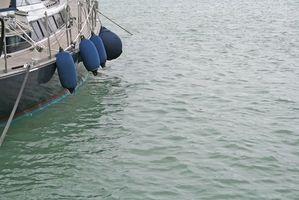Anhängen von Boot-Kotflügel