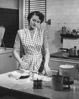 Hausfrau-Kleider der 1950er Jahre