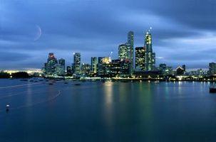 Inseln auf Besuch in Singapur