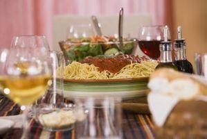 Checkliste für eine Pasta-Essen