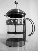 Französische Presse Kaffee-Methoden