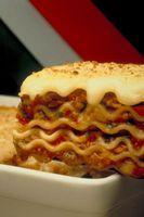Lasagne: Einfrieren in einer Aluminium-Pfanne