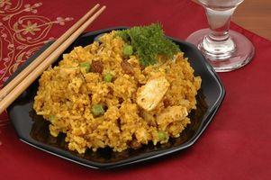 Geschichte der Reis mit Huhn