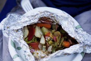 Speichern von Früchten & Gemüse in Alufolie