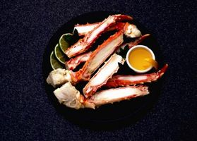 Krabben in eine langsame Herd Kochen