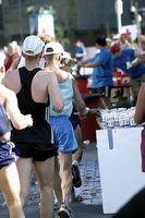 Wie Gel während eines Marathons zu tragen