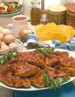 Wie man Chinesisch gebackene Hähnchenflügel