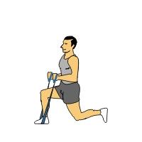 Wie eine elastische Übung-Band mit Ton-Legs