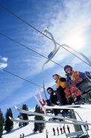 Wie ein Skilift Ticket zu tragen