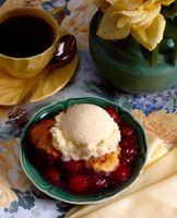 Wie schnell Früchte Cobbler Dessert Backen