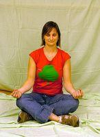 Yoga-Übungen, das Gesicht zu verschärfen