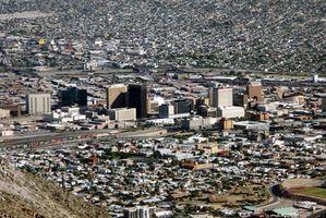 Land-Features von El Paso, Texas