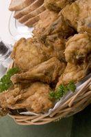 Wie können Sie ein Huhn Kochen, das Mehl ohne Öl zubereitet wurde?