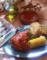 Gebackenes Hähnchen in Chili-Sauce