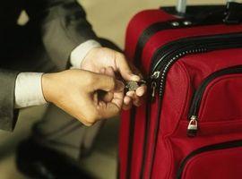 Eine Skyway Gepäck Tasche Sperre zurücksetzen